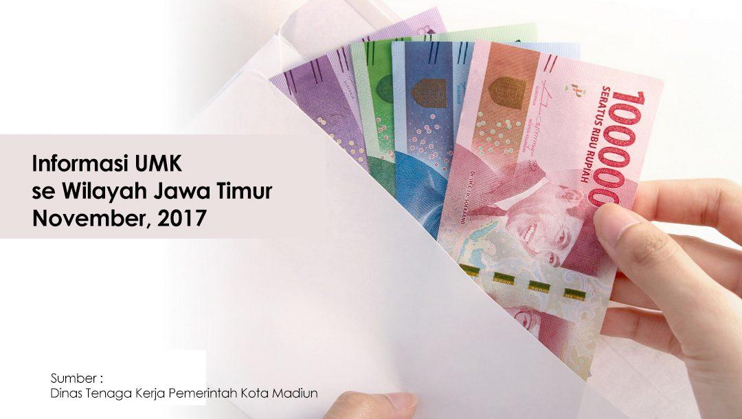Daftar UMK (Upah Minimum Kabupaten / Kota) Se Jawa Timur 2017