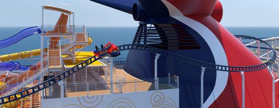 AJE GILE…!!!! Ada Wahana Roller Coaster Di Kapal Pesiar Ini